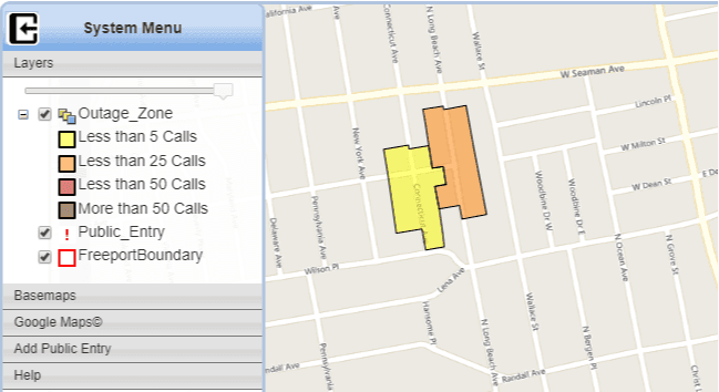 Outage Map Demo